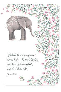 Christliche Postkarte von Himmel im Herzen zur Geburt