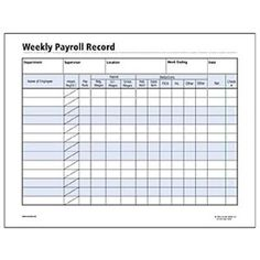 This weekly payroll form template has space for you to for Employee earnings record template