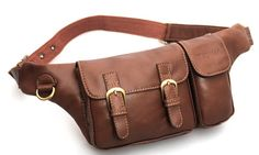 Utility Belt Leather Belt Bag Hip in Brown. $79.00, via Etsy.
