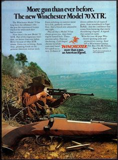1978 WINCHESTER Model 70 XTR RIFLE AD Vintage Firearms Advertising #Winchester