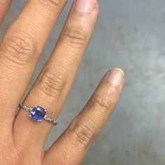 Custom Michelle Oh platinum ring