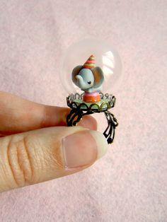 Miniature terrarium ring - The tiny circus elephant