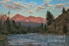 Morning Light On The Sawtooth Mountains : See more at:  http://fineartamerica.com/profiles/robert-bales.html