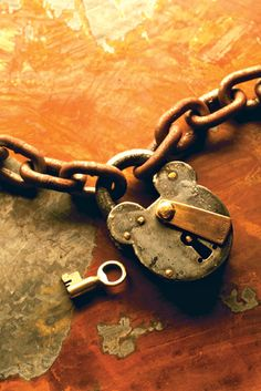 padlocks, keys, and chains. Great visual and tactile objects.