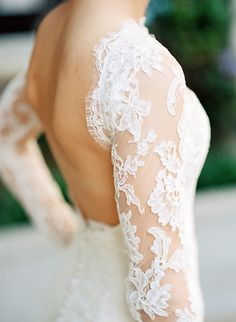 Long Sleeve Off the Shoulder Lace Wedding Dress with an Open Back | Joshua Gull Photography | Hey Wedding Lady Picks for a Fabulous 2016 Wedding! - http://heyweddinglady.com/hey-wedding-ladys-picks-fabulous-2016-wedding/