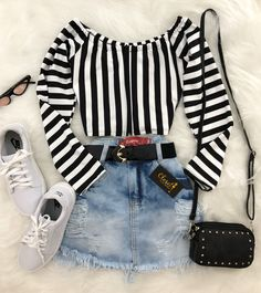 Teen Fashion Outfits, Cute Fashion, Trendy Outfits, Womens Fashion, Tumblr Outfits, Mode Outfits, Skirt Outfits, Mode Rockabilly, Grunge Fashion