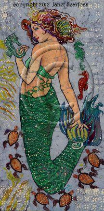Mermaid Sand & Sea Life by Tiki Rose Fantasy Mermaids, Real Mermaids, Mermaids And Mermen, Mermaid Fairy, Mermaid Tale, Magical Creatures, Sea Creatures, Sea Siren, Water Nymphs
