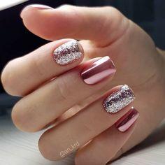 pink glitter Acrylic short square nails design for summer nails, Short square nails color ideas, Natural gel short square nails design, Pretty and cute acrylic nails design Nail ShortNails AcrylicNails SquareNails - Cute Acrylic Nail Designs, Classy Nail Designs, Cute Acrylic Nails, Nail Art Designs, Short Nail Designs, Sparkle Nails, Fancy Nails, Love Nails, Pretty Gel Nails