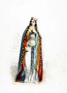 Medieval clothing 5th century dress. Saint Clotilde Chrodechild Merovingian…