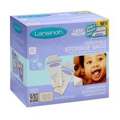 Amazon.com: Lansinoh Breastmilk Storage Bags, 100 Count, BPA Free and BPS Free (Packaging May Vary): Baby