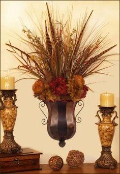 Metal Sconces for Floral Arrangements | Flower Wall Sconce SC03 : Floral Home Decor, silk rose arrangements ...