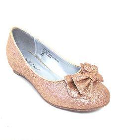 Look at this #zulilyfind! Champagne Bow Ballet Flat by Little Angel #zulilyfinds