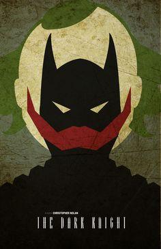 Minimalism poster series - The Dark Knight