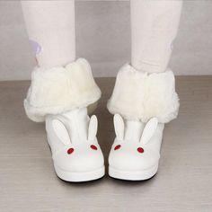 Lolita Kawaii Rabbit Snow Boots with Bowknot – SpreePicky Kawaii Fashion, Lolita Fashion, Cute Fashion, Fashion Outfits, Sock Shoes, Cute Shoes, Me Too Shoes, Kawaii Shoes, Kawaii Clothes