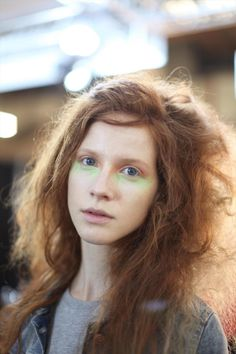 Marques Almeida S/S15. I will try this if I need to hide some dark rings. Probably having that hair style too. #makeup