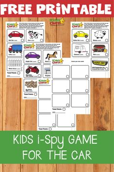 Free printable I-spy game for the car and travels I Spy Games, Games For Kids, Activities For Kids, Printable Puzzles, Free Printables, Lap Book Templates, Learning Games, Business For Kids, Travel With Kids