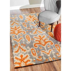 nuLOOM Handmade Modern Ikat Grey Wool Rug (5' x 7'6) - Overstock™ Shopping - Great Deals on Nuloom 5x8 - 6x9 Rugs
