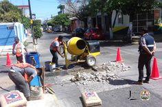 Dirección de obras públicas realiza trabajos de bacheo