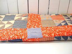 Vintage Quilt for Crafting Rustic Primitive by FrogLevelFarm