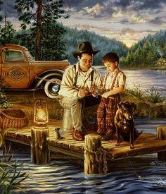 """#art #fishing """"Gone Fishing"""" by: Jim Daly http://www.fishinglondon.co.uk/"""