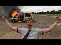 A Van Loaded With Fireworks Explodes in a Spectacular Fashion