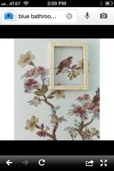 Love the framed bird!