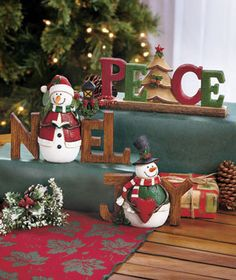 Deck out a table or shelf with the heartfelt word of our Holiday Sentiment Decor. Sculpted with intricate details in warm holiday colors, it uses a Christmas symbol or character to help spell out a word that evokes the season. Coordinating designs ma