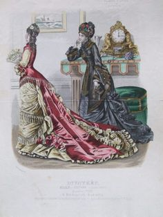 Evening and visiting (?) dress, 1875 Austria-Hungary (modern-day Hungary), Budapesti Bazárra