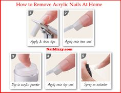 How To Remove Acrylic Nails At Home Easly In This Article You Wil Get Most Effect Methods Source Http Naildizzy Com How To Take Off Acrylic Nails At Hom