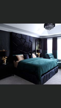 Bedroom With Bath, White Bedroom, Grey Bedroom Furniture, Bedroom Decor, Bedroom Ideas, Luxurious Bedrooms, Dark Bedrooms, Master Bedrooms, Luxury Bedroom Design
