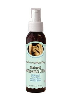 Natural Stretch Oil - Organic borage oil and neroli pure essential oil help nourish and encourage skin's natural elasticity for natural stretch mark care. Natural Stretch Oil is light and readily absorbable. From Earth Mama Angel Baby.