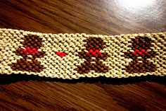 Christmas Gingerbread Man Woven Friendship Bracelet Macrame Holiday by TheGringaHippie on Etsy