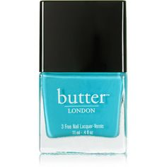 Butter London Nail Polish - Slapper ($15) ❤ liked on Polyvore featuring beauty products, nail care, nail polish, nails, makeup, beauty, blue, butter london nail polish, blue nail polish and butter london