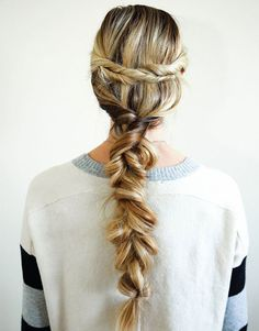 Give your long hair a twisted braid 'do for the winter with this hair tutorial.