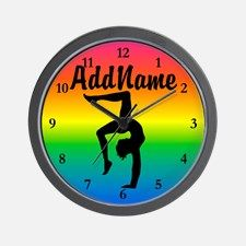 GYMNAST 10.0 Wall Clock Calling all Gymnasts! Show your love for Gymnastics with our awesome personalized Gymnast Girl Tees and Gifts. http://www.cafepress.com/sportsstar/10114301 #Gymnastics #Gymnast #WomensGymnastics #Lovegymnastics #Personalizedgymnast