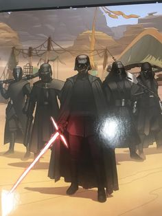 """Kylo and the Knights of Ren on Pasaana from the """"We are the Resistance """" book : StarWarsLeaks Star Wars Books, Star Wars Film, Star Wars Poster, Star Wars Art, Lucas Arts, Knights Of Ren, Star Wars Kylo Ren, Original Trilogy, Movie Titles"""
