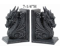 Dragon Bookend Set V8266-Tabletop