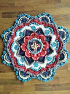 30 Ideas For Crochet Tunisian Tutorial Granny Squares Crochet Mandala Pattern, Crochet Square Patterns, Crochet Quilt, Crochet Blocks, Crochet Stitches Patterns, Tunisian Crochet, Crochet Squares, Diy Crochet, Granny Squares