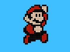 Mario Pixel, Pixel Art Minecraft, Minecraft Ideas, Image Mario, Pixel Art Templates, Templates Free, Bead Crafts, Arts And Crafts, Modele Pixel Art