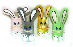 lapins de pâques tout en récup