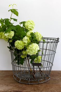 Vintage wire basket for storage by vintagewall on Etsy, $55.00