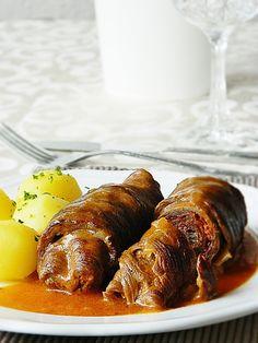Dr Ola's kitchen: German Rolled Beef. Rinderrouladen. شرائح اللحم الملفوفة