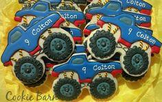Monster Truck Birthday Cookies