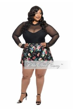 New Plus Size Off the Shoulder Top in Black | Chic and Curvy ...
