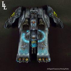 "tylerdscott: ""Space Wolves Caestus Assault Ram from Lil'Legend Studio. Warhammer 40k Space Wolves, Warhammer Art, Warhammer Models, Warhammer 40k Miniatures, Warhammer 40000, Imperial Fist, Wolf Stuff, Colour Schemes, Paint Schemes"