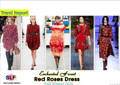 Red Roses Dress #FashionTrend for Fall Winter 2014 #Floral #Trends #FW2014 #Fall2014