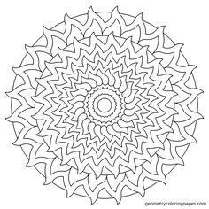 """Solar"" Geometrycoloringpages.com"