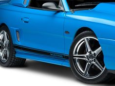 Mustang Rocker Stripes With Mustang Lettering Black 94 04 All Black Mustang Mustang Rocker