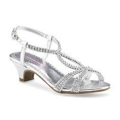Girl's Hettie Silver Dress Sandal - Sears