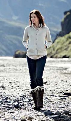 Pathway Jacket, Jeans Plus and Muztag Boots